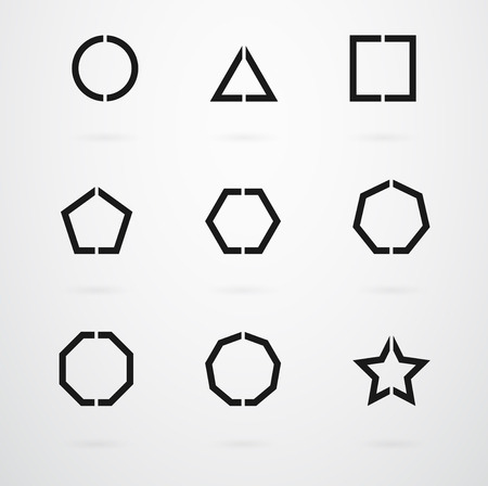 Geometrische basisvormen Vector Icon Set