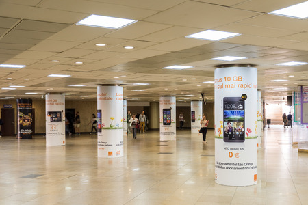 under ground: BUCHAREST ROMANIA  JUNE 03 2015: The University Underpass In Bucharest Is One Of The largest Underpasses In Bucharest And Was Built In 1971. Editorial