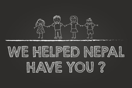 Help Nepal With Donations Sign On Blackboard