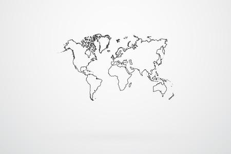 World Map Borders Vector Vector