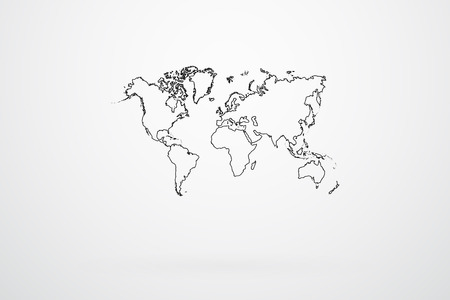 World Map Borders Vector Vector
