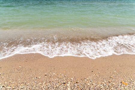 shoreline: The Black Sea Waves At Shoreline Stock Photo