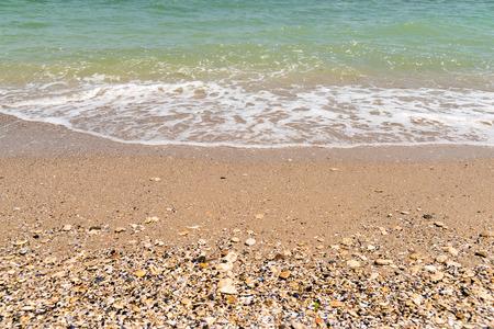 the black sea: The Black Sea Waves At Shoreline Stock Photo