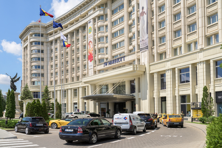 five star: BUCHAREST, ROMANIA - JULY 28, 2015: JW Marriott Bucharest Grand Hotel Is A Five Star Hotel And One Of The Most Luxurious Hotels Downtown Of Bucharest City.