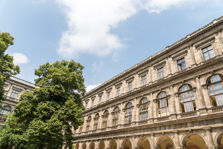 university building: VIENNA, AUSTRIA - AUGUST 03, 2015: The University of Vienna Universitat Wien is a public university founded by Duke Rudolph IV in 1365 and is the oldest university in the German-speaking world.