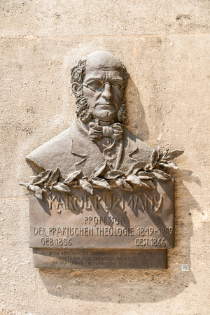 theologian: VIENNA, AUSTRIA - AUGUST 03, 2015: Statue Of Karol Kuzmany At University Of Vienna. He was a Slovak writer and Protestant theologian.