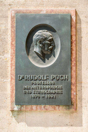 anthropologist: VIENNA, AUSTRIA - AUGUST 03, 2015: Statue Of Rudolf Poch At University Of Vienna. He was an Austrian doctor, anthropologist, and ethnologist.