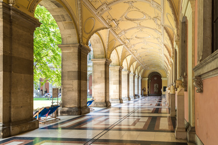 rudolph: VIENNA, AUSTRIA - AUGUST 03, 2015: The University of Vienna Universitat Wien is a public university founded by Duke Rudolph IV in 1365 and is the oldest university in the German-speaking world.