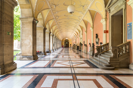 VIENNA, AUSTRIA - AUGUST 03, 2015: The University of Vienna Universitat Wien is a public university founded by Duke Rudolph IV in 1365 and is the oldest university in the German-speaking world.