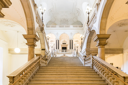 university students: VIENNA, AUSTRIA - AUGUST 04, 2015: The University of Vienna Universitat Wien is a public university founded by Duke Rudolph IV in 1365 and is the oldest university in the German-speaking world.