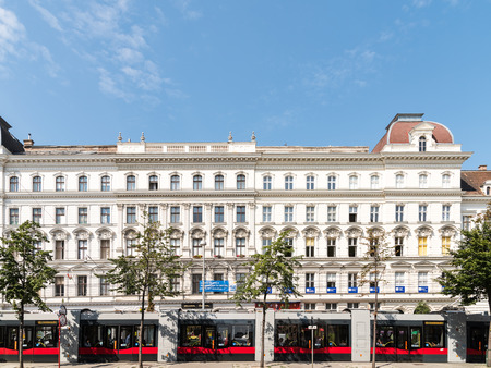 neoclassical: VIENNA, AUSTRIA - AUGUST 05, 2015: Neoclassical Vintage Architecture In Downtown Vienna Capital Of Austria. Editorial