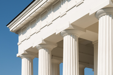 pilaster: Doric Columns Of Ancient Greek Temple