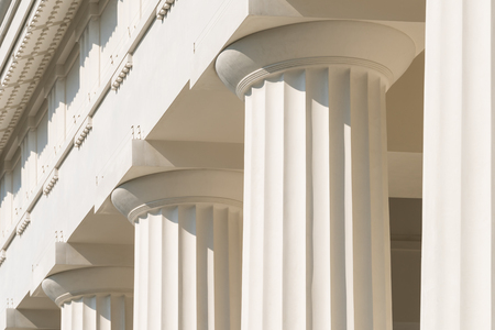 the architecture is ancient: Doric Columns Of Ancient Greek Temple