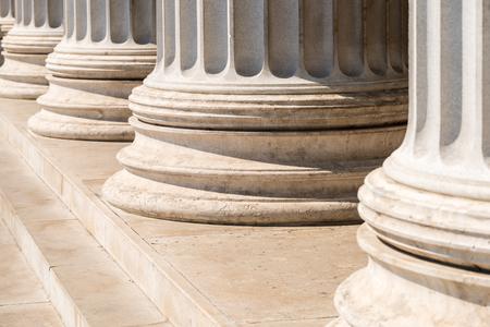 Composite Style grec colonnes Row Banque d'images - 45044636