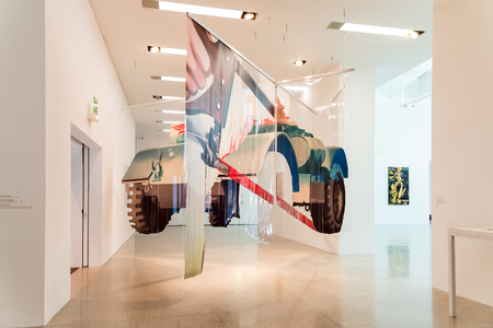 modern art: VIENNA, AUSTRIA - AUGUST 07, 2015: Mumok Museum Moderner Kunst Or Museum of Modern Art is a museum in the Museumsquartier in Vienna that has a collection of 7,000 modern and contemporary art works.