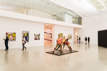 VIENNA, AUSTRIA - AUGUST 07, 2015: Mumok Museum Moderner Kunst Or Museum of Modern Art is a museum in the Museumsquartier in Vienna that has a collection of 7,000 modern and contemporary art works.