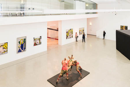 andy warhol: VIENNA, AUSTRIA - AUGUST 07, 2015: Mumok Museum Moderner Kunst Or Museum of Modern Art is a museum in the Museumsquartier in Vienna that has a collection of 7,000 modern and contemporary art works.