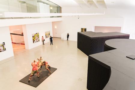 モダンアート: VIENNA, AUSTRIA - AUGUST 07, 2015: Mumok Museum Moderner Kunst Or Museum of Modern Art is a museum in the Museumsquartier in Vienna that has a collection of 7,000 modern and contemporary art works.
