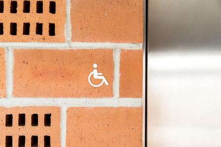 public restroom: Public Restroom For Special Disabled People Sign