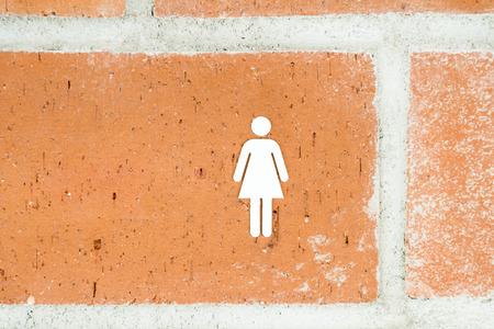 public restroom: Public Restroom For Women Sign Stock Photo
