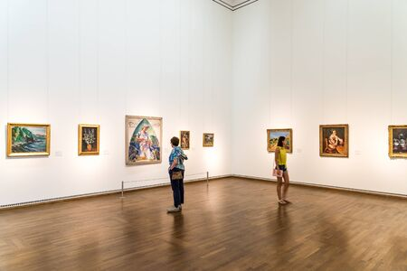 VIENNA, AUSTRIA - AUGUST 08, 2015: The Leopold Museum, housed in the Museumsquartier in Vienna is home to one of the largest collections of modern Austrian art.
