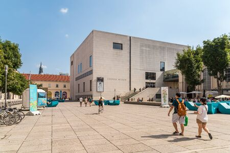 leopold: VIENNA, AUSTRIA - AUGUST 08, 2015: The Leopold Museum, housed in the Museumsquartier in Vienna is home to one of the largest collections of modern Austrian art.