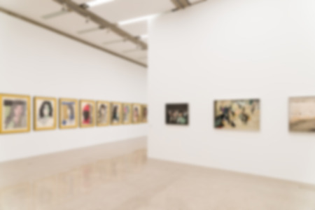 Blur Photo Of Art Gallery Interior Standard-Bild - 46454950