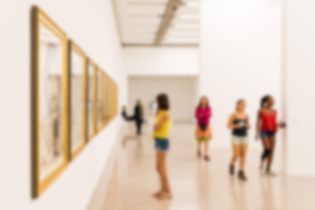Blur Foto Van Art Gallery Interior