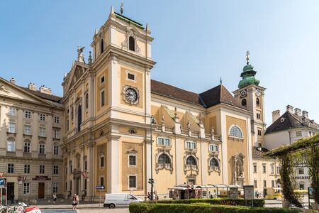 catholic church: VIENNA, AUSTRIA - AUGUST 09, 2015: The Schottenstift Scottish Abbey, formally called Benedictine Abbey of Our Dear Lady of the Scots, is a Roman Catholic monastery founded in Vienna in 1155.