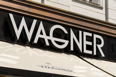 wagner: VIENNA, AUSTRIA - AUGUST 15, 2015: Founded in 1917 Juwelier Wagner is one of the few jewellery firms in Austria which has both a state-of-the-art in-house jewellery workshop and a watch workshop.