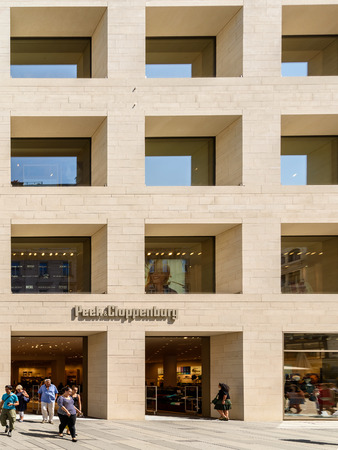 peek: VIENNA, AUSTRIA - AUGUST 15, 2015: Founded In 1900 Peek  Cloppenburg is an international chain of retail clothing stores with headquarters in Germany. Editorial