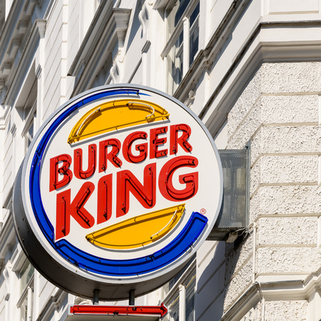unincorporated: VIENNA, AUSTRIA - AUGUST 15, 2015: Founded in 1953 Burger King is a global chain of hamburger fast food restaurants headquartered in unincorporated Miami-Dade County, Florida, United States.