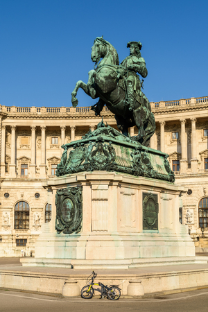 archduke: VIENNA, AUSTRIA - AUGUST 20, 2015: Statue Of Prince Eugene of Savoy In Vienna, a general of the Imperial Army and one of the most successful military commanders in modern European history.