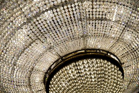 crystal chandelier: Classic Crystal Chandelier Close Up Stock Photo