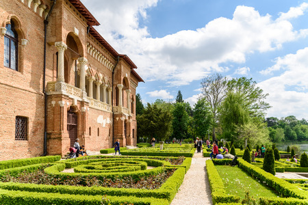 constantin: BUCHAREST, ROMANIA - AUGUST 10, 2015: Mogosoaia Palace was built between 1698-1702 by Constantin Brancoveanu in what is called the Romanian Renaissance style or Brancovenesc style.