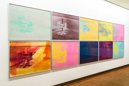 andy warhol: VIENNA, AUSTRIA - AUGUST 20, 2015: Andy Warhol Paintings At Albertina Museum In Vienna. Andy Warhol was an American artist who was a leading figure in visual art movement known as pop art.