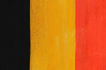 belgium flag: Belgium Flag Painted On Wood Boards Stock Photo
