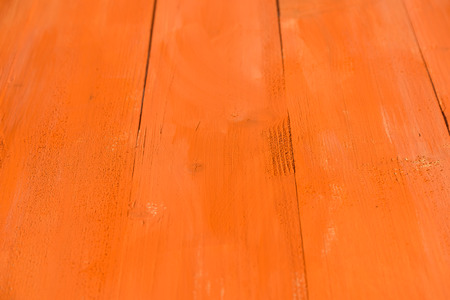 painted wood: Vintage Orange Wood Board Painted Background Stock Photo