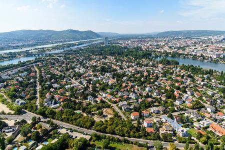 residential neighborhood: Aerial View Of Vienna City Skyline