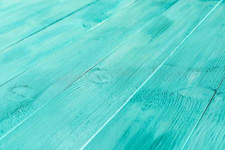 Vintage Blue Turquoise Wood Board Painted Background