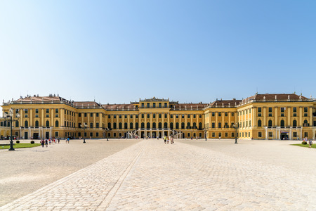 schonbrunn palace: VIENNA, AUSTRIA - AUGUST 25, 2015: Schonbrunn Palace Schloss Schonbrunn is a former baroque imperial summer residence located in Vienna.