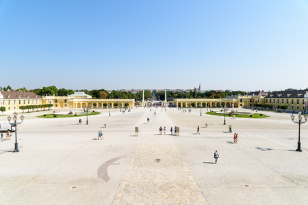 schonbrunn palace: VIENNA, AUSTRIA - AUGUST 25, 2015: Schonbrunn Palace Schloss Schonbrunn is a former baroque imperial summer residence located in Vienna.