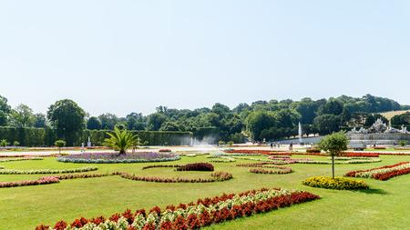 schonbrunn palace: VIENNA, AUSTRIA - AUGUST 25, 2015: Schonbrunn Palace Schloss Schonbrunn Gardens in Vienna.