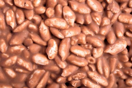 expanded: Milk Chocolate With Expanded Rice Stock Photo