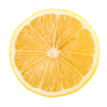 Fresh Lemon Slice isolé sur blanc