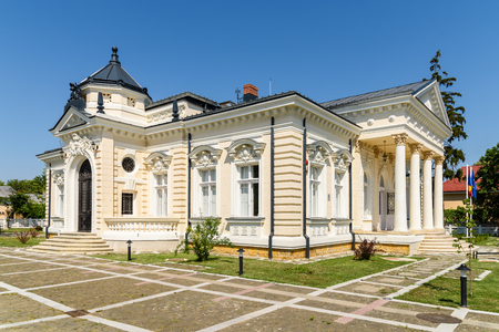 archaeology: TECUCI, ROMANIA - JULY 25, 2015: Built in XIX-Century The Museum Of History Teodor Cincu is One Of The Largest Archaeology And Art Museums In Tecuci Town Of Galati County.