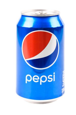 coke bottle: BUCHAREST, ROMANIA - JANUARY 16, 2016: Pepsi is one of the most famous carbonated soft cola drink sold in stores, restaurants, and vending machines around the world.