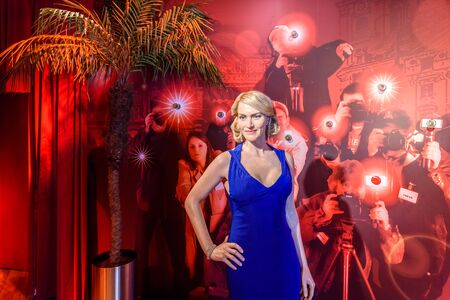 VIENNA, AUSTRIA - AUGUST 08, 2015: Kate Winslet Figurine At Madame Tussauds Wax Museum.