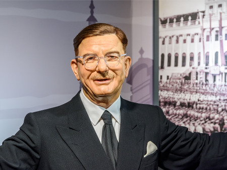 leopold: VIENNA, AUSTRIA - AUGUST 08, 2015: Leopold Figl Figurine At Madame Tussauds Wax Museum. Editorial