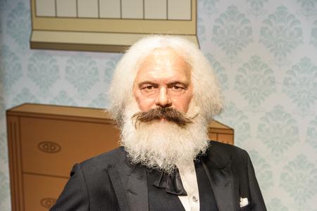 karl: VIENNA, AUSTRIA - AUGUST 08, 2015: Karl Marx Figurine At Madame Tussauds Wax Museum.